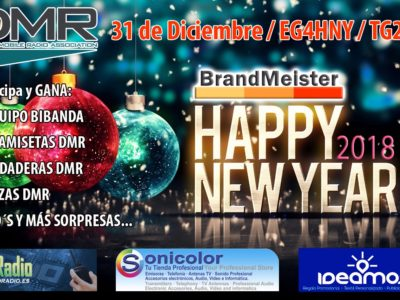 Happy New Year 2018 en BrandMeister EA